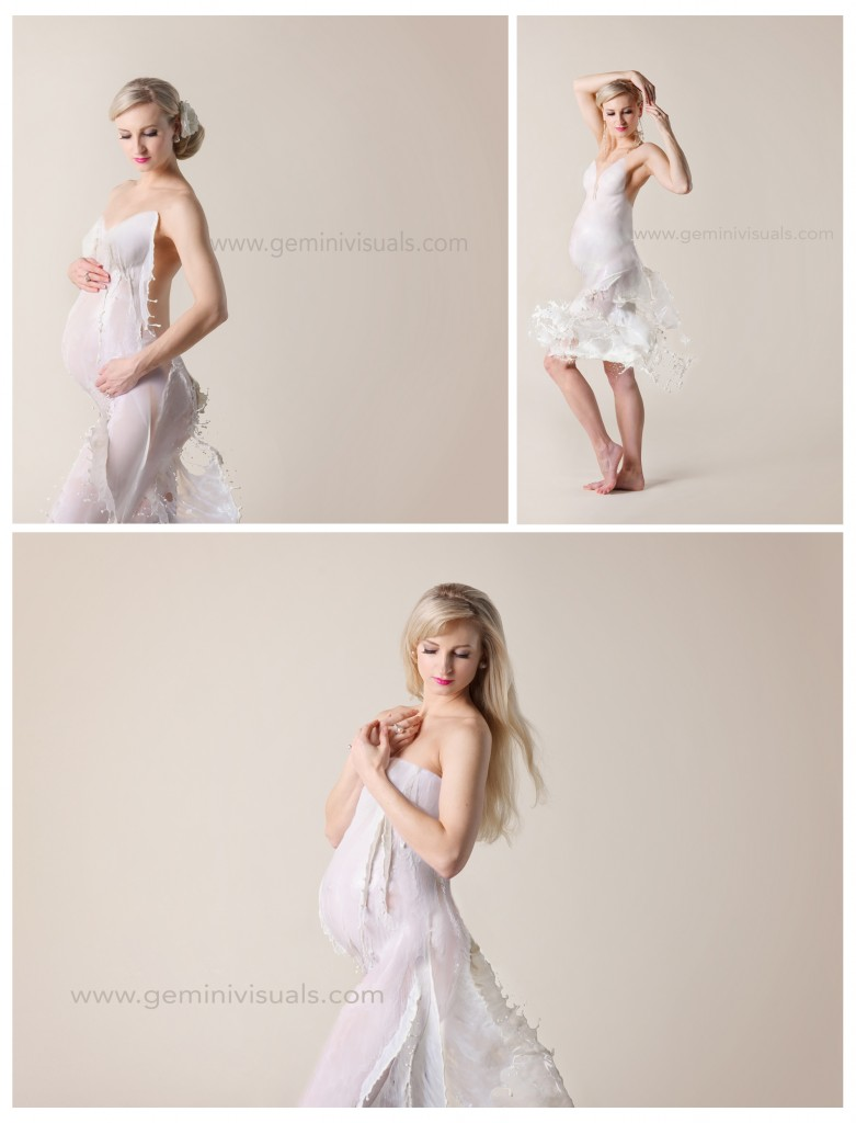 Maternity Milk Dress shoot
