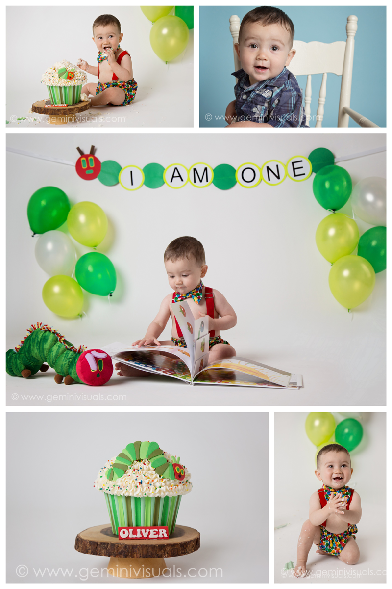 Very Hungry Caterpillar Cake Smash White Rock Photographer