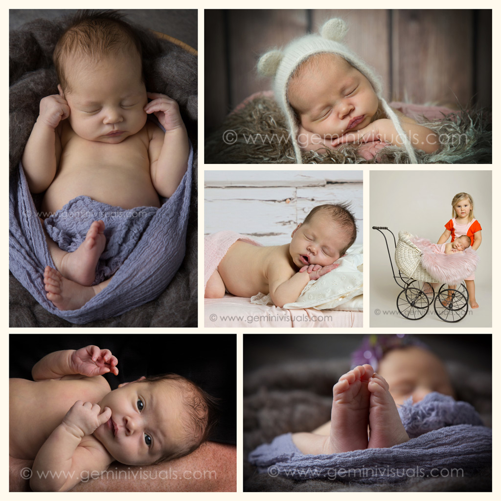Sweet baby newborn collage