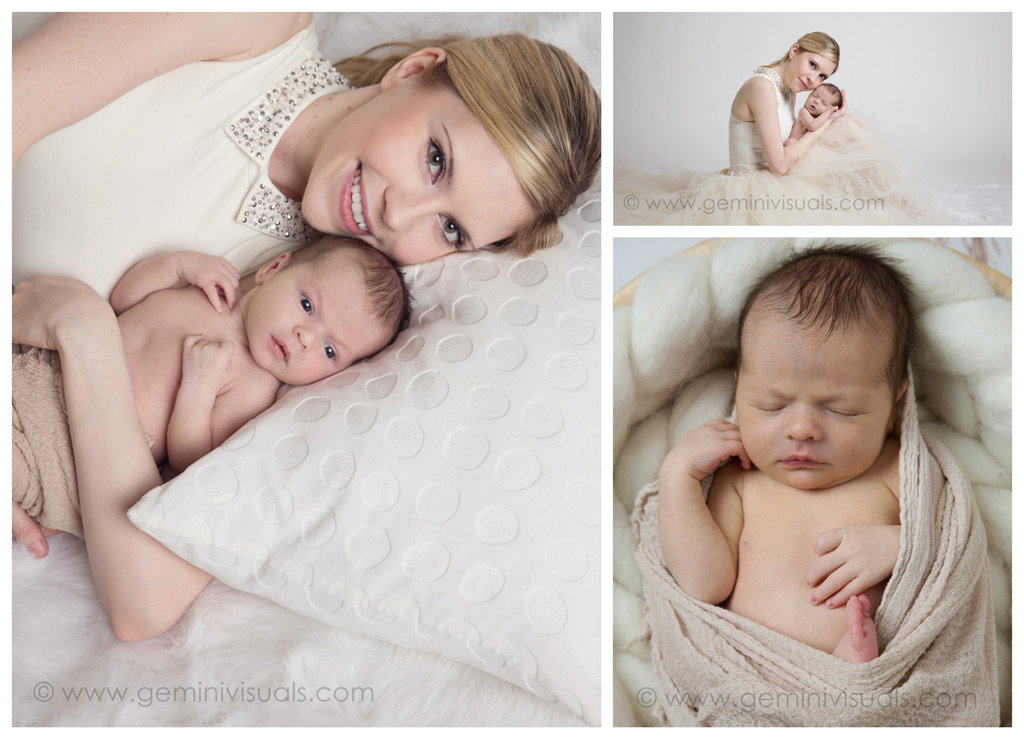 Newborn and Mommy Photoraphy Pinks and Cream