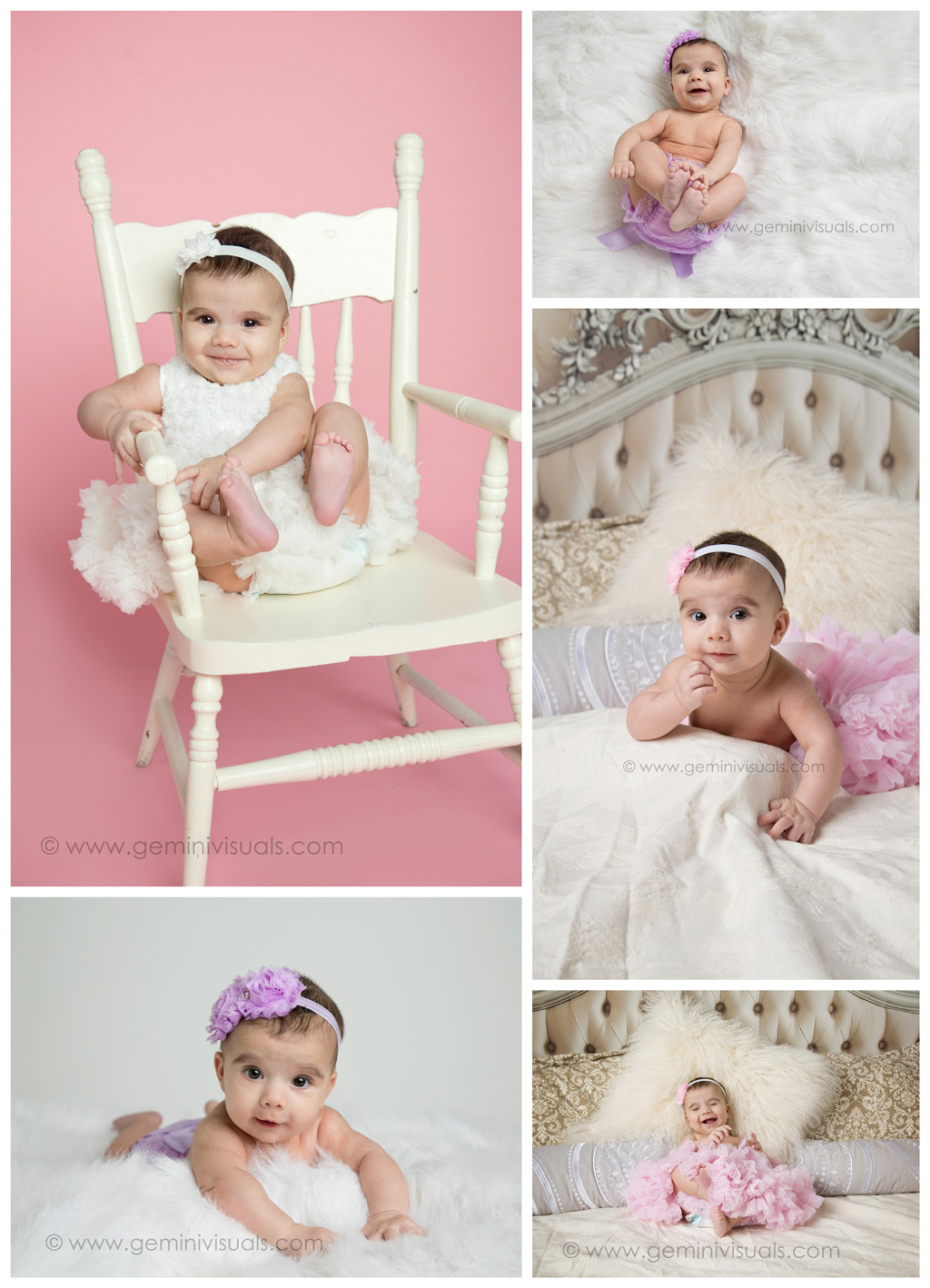 baby photography pink background on a chair