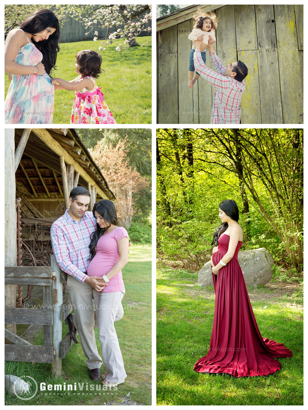 Beautiful outdoor maternity photography by Gemini Visuals Creative Photography
