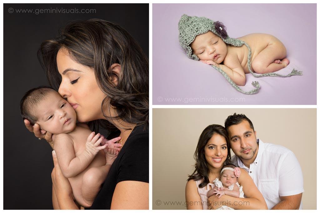 White rock newborn baby family photograph