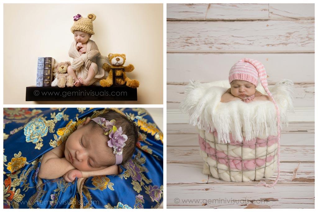 white rock newborn baby photography collage