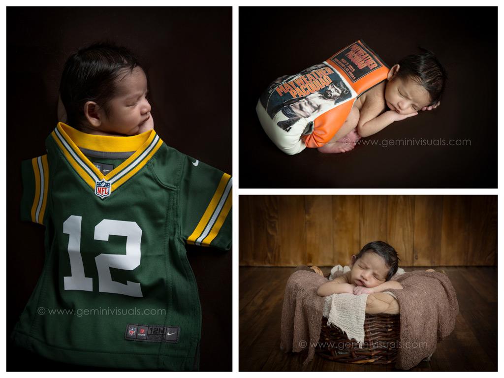 Mayweather Pacquiao Newborn Baby Photography NFL Football Jersey