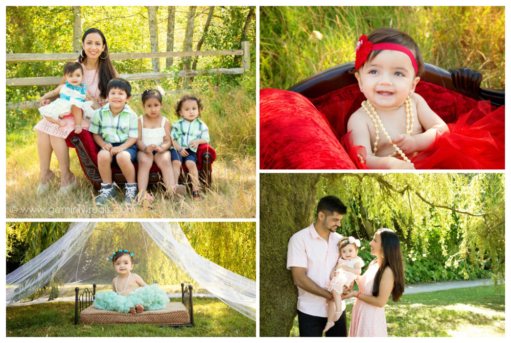 outdoor milestone 6 month session