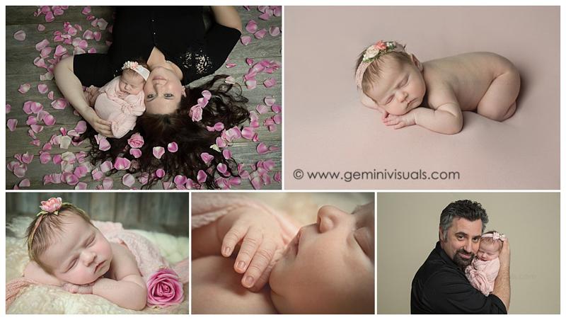 newborn baby girl photos roses rosee petals